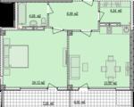 Дизайн-проект квартиры Б803 в новостройке ЖК Ласточкино Гнездо (Гаспра)