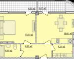 Дизайн-проект квартиры Б805 в новостройке ЖК Ласточкино Гнездо (Гаспра)