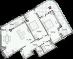 Дизайн-проект квартиры А802 в новостройке ЖК Ласточкино Гнездо (Гаспра)