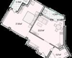 Дизайн-проект квартиры А701 в новостройке ЖК Ласточкино Гнездо (Гаспра)