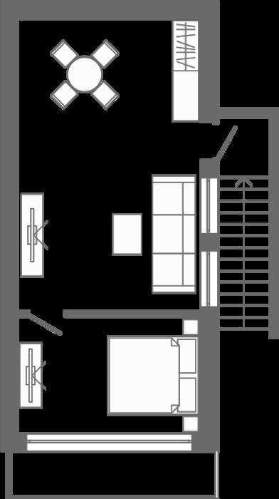 Планировка квартиры 2 в Жилой дом «Парковый»